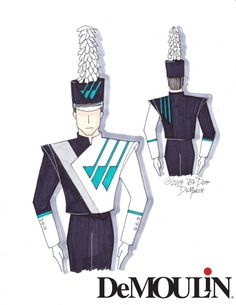 Rob Depp Designs - Made-to-Order Uniforms - Marching Band - DeMoulin Marching Band Uniforms, Marching Bands, Drum Major, Drumline, Winter Guard, Uniform Design, Prop Design, Color Guard, Best Model