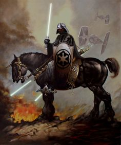 Star Wars mashed up with Frank Frazetta's Deathdealer.