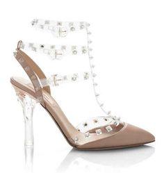 lucite strappy heels