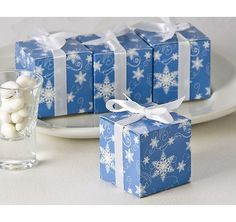 Winter Wishes Snowflake Favor Box (24 Pack) from TheWeddingOutlet.com