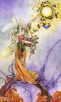 La Emperatriz  La Diosa del Amor  El amor creó el mundo y todas las fuerzas de la creación están sujetas al amor. Anónimo.  La Emperatriz está sentada en su trono y lo invita a visitar el jardín que preside. Domina sobre la naturaleza y todas las formas de crecimiento y armonía. Al fondo del jardín vislumbra mansos arroyos árboles mecidos por una suave brisa y pájaros que cantan. Es una atmósfera idílica. Siente la caricia del sol sobre su cabeza y su cuerpo. Ella lo invita a sentarse a su…