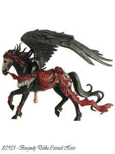 $20.88 Nene Thomas Couture Carousel Horse Burgundy Dahlia