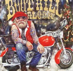 boothill biker a unique christmas card by british artist steve taylor message inside