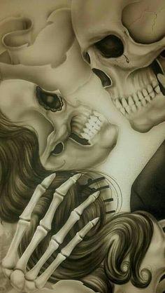 Cool skull poss tat Halloween Face Makeup
