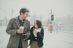 Coffee to go...in the snow: I want a picture like this with @Yaël