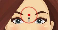 Esto es lo que sucede cuando masajeas este punto en tu frente