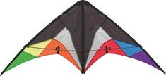 #PopularKidsToys Just Added In New Toys In Store!Read The Full Description & Reviews Here - HQ Quickstep 2 Stunt Kite (Black Rainbow) - HQ Quickstep 2 Stunt Kite (Black Rainbow)  – This new HQ entry-level kite is noted primarily for their sturdy design. – Polyester Flying line and fabric wrist straps are supplied. This new HQ entry-level kite is noted primarily for their sturdy design. Polyester Flying line and fabric wrist straps are supplied.    Frequently Bough