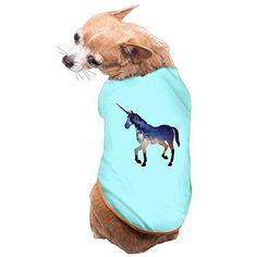 NUBIA Puppy Unicorn Horse New Style Costume T-shirt SkyBlue Size S - http://www.petsupplyliquidators.com/nubia-puppy-unicorn-horse-new-style-costume-t-shirt-skyblue-size-s/