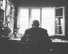 Martin Heidegger at home in Freiburg