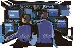 Control room royalty-free stock vector art