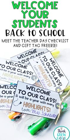 Welcome your students and their families back to school with these tips and simple FREEBIE to make your Meet the Teacher day go smoothly!