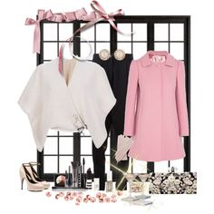 """""""black and pink"""" by ntina36 on Polyvore"""