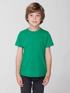 2105 American Apparel Kids Fine Jersey Short Sleeve T