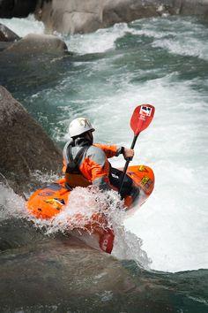 kayaking the rapids