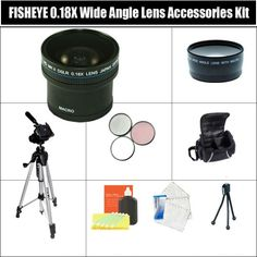 0.18X HD SUPER FISHEYE WIDE ANGLE LENS ACCESSORY KIT ALSO INCUDING 2X TELEPHOTO LENS + 3 PC FILTER KIT + FULL SIZE TRIPOD + CARRYING CASE + MORE!! FOR NIKON D40 D40X D60 DIGITAL SLR CAMERAS.THESE LENSES AND FILTERS WILL ATTACH DIRECTLY TO THE FOLLOWING NIKON LENSES 18-55mm, 55-200mm, 50mm. $79.99