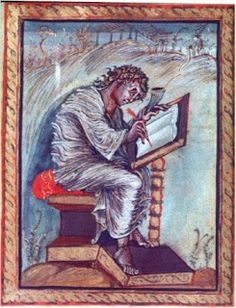 St. Matthew in the Ebbo Gospels however is a very subjective, expressionistic piece of work.