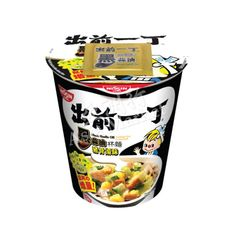 Find here Nissin's Demae Iccho Ramen Noodles with Black Garlic Oil Tonkotsu Flavour. It is tasty and chewy and can be prepared in a couple of minutes. Asian Noodles, Soba Noodles, Instant Ramen, Black Garlic, Garlic Oil, Buckwheat, A Food, Tasty