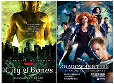 The Mortal Instruments series by Cassandra Clare. Shadowhunters series premiered on January 12, 2016.