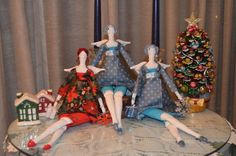 17in/43cm Christmas Tilda Style Doll by AdrianaPatchwork on Etsy