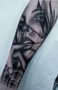 80 Tatuagens de Palhaço incríveis para você se inspirar - Fotos e Tatuagens Chicano Art Tattoos, Gangster Tattoos, Body Art Tattoos, Girl Tattoos, Tatoos, Chicanas Tattoo, Clown Tattoo, Graffiti Tattoo, Aztec Warrior Tattoo