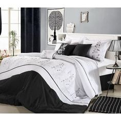 12pc PF. Black/White Luxury Size: Queen Sheet Set Color: Chocolate