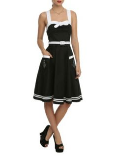 Hell Bunny Siren Black Dress at Hot Topic. Cute