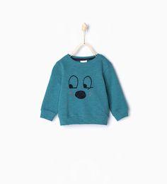 Image 2 of Eyes sweatshirt from Zara