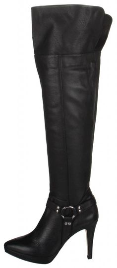 Strip tease in thigh high boots