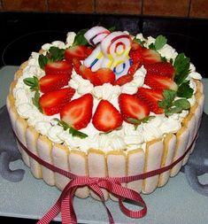 TORT TRUSKAWKOWY Fruit Cake Design, Polish Recipes, Polish Food, New Cake, Take The Cake, Yummy Cakes, Sweet Tooth, Cake Decorating, Cheesecake