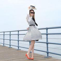 Saybrook Stripe Dress #Anthropologie #MyAnthroPhoto