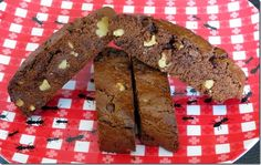 Brownie Biscotti, gluten free, dairy free at Baking and Boys!
