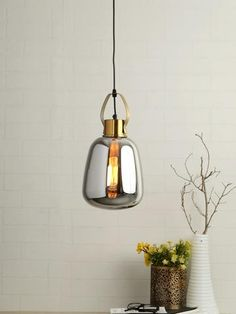 Alices Smoky Pendant Lamp | Buy Modern Hanging Lights Online India - Contemporary style hanging lamp which will add elegance and glamour to your interiors with its designer and modern appeal. The pendant lamp has an eclectic style with its mirror glass touch. Eclectic Pendant Lighting, Large Pendant Lighting, Contemporary Pendant Lights, Pendant Lamps, Modern Pendant Light, Pendant Light Fixtures, Contemporary Style, Decoration Lights For Home, Modern Hanging Lights