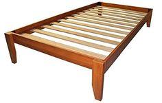 Epic Furnishings Stockholm Solid Wood Bamboo Platform Bed Frame, Twin, Medium Oak