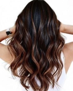 Bayalage Dark Hair, Brown Hair Balayage, Balayage Highlights, Bayalage Caramel, Bayalage Brunette, Black Balayage, Black Brown Hair, Hair Color For Black Hair, Dark Brown