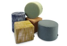 A collection of 3 sizes of circular & square stools with accompanying circular and square tables. Allsorts are ideal for all areas, can be used in conjunction with many of our other designs and are easily moveable from place to place. Soft Seating, Square Tables, Interior Design, Benches, Stools, Outdoor Decor, Japan, Home Decor, Nest Design