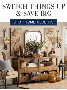 Pottery Barn Shelves, Home Accents, Entryway Tables, Family Room, Gallery Wall, Rustic, Furniture, Shopping, Decor Ideas