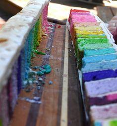 Rainbow | Arc-en-ciel | Arcobaleno | レインボー | Regenbogen | Радуга | Colours | Texture | Style | Form | Cake