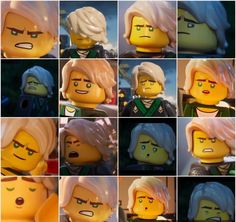 Lloyd faces from the Lego Ninjago Movie Lego Ninjago Lloyd, Lego Ninjago Movie, Lego Movie, Ninjago Memes, South Park, Teenage Mutant Ninja Turtles, In This World, Boy Bands, Cartoons