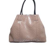 Big Buddha Santorini Ostrich Tote Taupe up to 70% off | Handbags | Little Black Bag