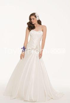 Satin Face Organza Dress with Beaded Drop Waist - TaylorProm.com