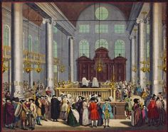 From the second half of the 17th century Amsterdam allowed Jews to build synagogues, which were visible from the street - the Ashkenazi synagogue complex (1671-1752) and the Portuguese Synagogue, or simply Esnoga or Snoge (1671-1675 ). For various reasons, such as lack of space, but also determination to stay in Amsterdam, the Portuguese municipality decided to put down the new building.