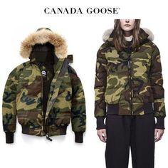 CANADA GOOSE ダウンジャケット・コート CANADA GOOSE Savona Bomber ボーイッシュに決まるClassic Camo Canada Goose Women, Canada Goose Jackets, Camo, Winter Jackets, Camouflage, Winter Coats, Winter Vest Outfits, Military Camouflage