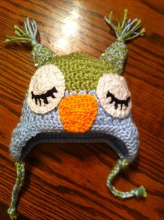Baby Crocheted owl hat