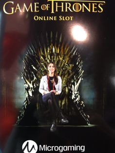 In the throne at MWC #gameofthrones