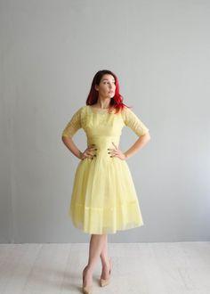 Vintage 1960s Party Dress 60s Chiffon Dress by concettascloset