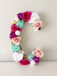 Carta floral flor personalizada carta carta de vivero Baby