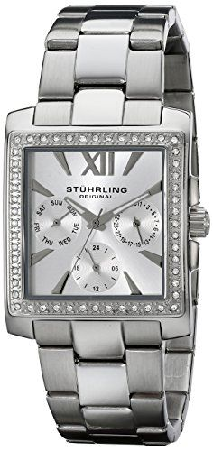 Women's Wrist Watches - Stuhrling Original Womens 54001 Victoria Quartz Multifunction Swarovski Stainless Steel Watch *** You can get more details by clicking on the image.