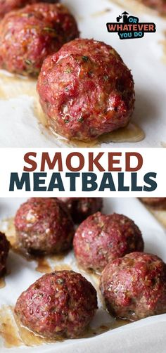 Smoker Grill Recipes, Grilling Recipes, Meat Recipes, Smoked Meatballs Recipe, Italian Meatballs, Outdoor Cooking Recipes, Cooking Tips, Traeger Recipes, Smoke Grill