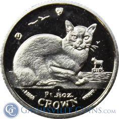 1/25 oz Platinum Isle of Man Cat Coin