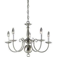 Progress Lighting - Americana Collection Brushed Nickel 5-light Chandelier